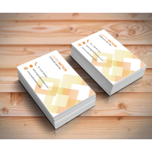 Single Sided Matt Laminated Business Cards